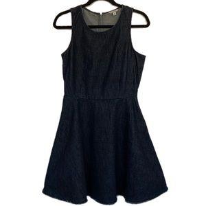 GAP Size 6 Dark Blue Denim Circle Skirt Dress